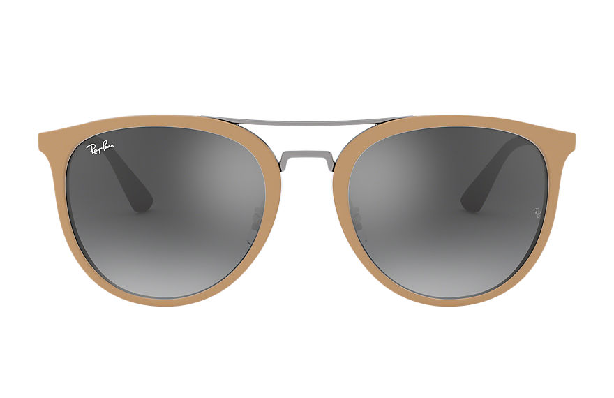 Ray-Ban RB4285 Light Brown with Grey Gradient Mirror lens