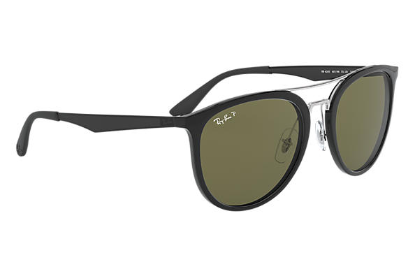 Ray Ban RB4285 Black Injected Green