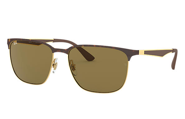 Ray-Ban 0RB3569-RB3569 Tortoise,Gold; Gold,Brown SUN