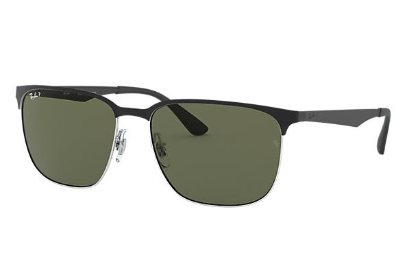 cd3adce966d Ray-Ban RB3569 Black - Metal - Green Polarized Lenses ...