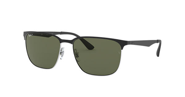 c5ee9c666f Ray-Ban RB3569 Black - Metal - Green Polarized Lenses - 0RB356990049A59