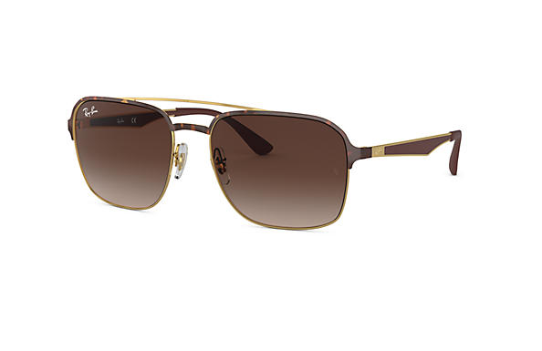 Ray-Ban 0RB3570-RB3570 Tortoise,Gold; Brown SUN