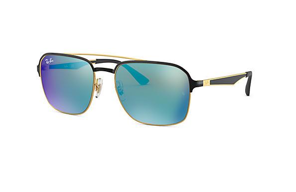 e4d9748e5f2 Ray-Ban RB3570 Black - Metal - Blue Lenses - 0RB3570187 5558