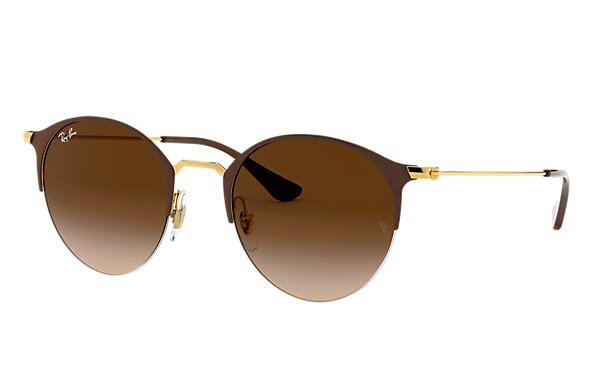 Ray-Ban 0RB3578-RB3578 Brown,Gold; Gold SUN