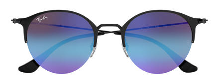 Ray-Ban RB3578 Black with Blue/Violet Gradient Mirror lens