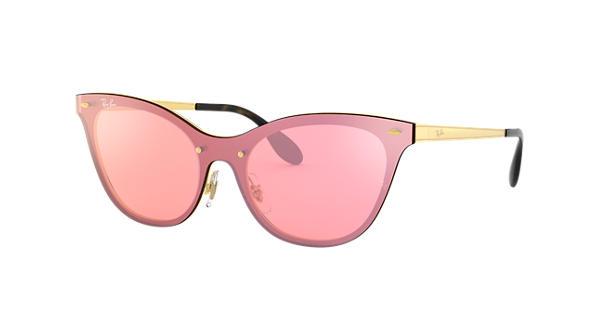 cb140728ccf45 Ray-Ban Blaze Cat Eye RB3580N Gold - Steel - Pink Lenses - 0RB3580N043 E443