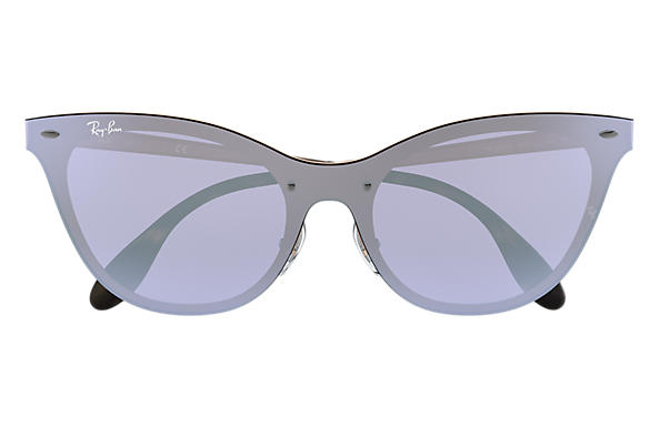 Ray-Ban BLAZE CAT EYE Bronze-Copper with Violet Mirror lens