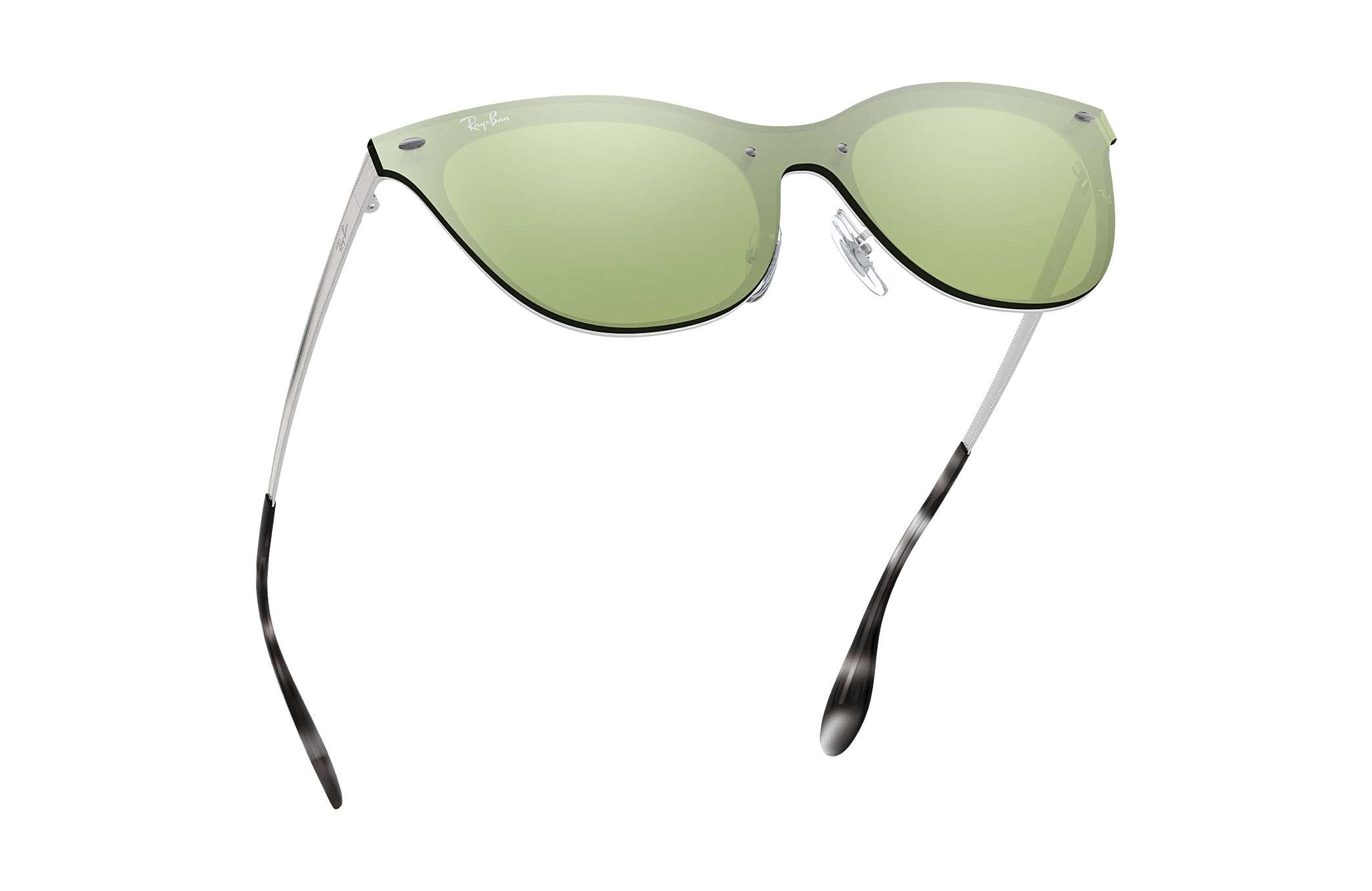 4a36e5ca5f863 Ray-Ban Blaze Cat Eye RB3580N Silver - Steel - Dark Green Silver ...