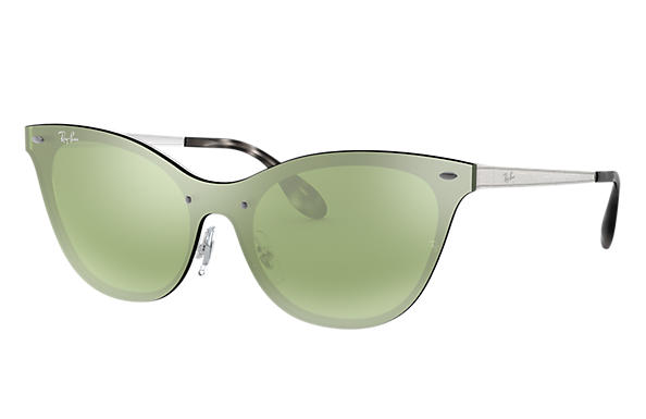 Ray-Ban 0RB3580N-BLAZE CAT EYE Silver SUN
