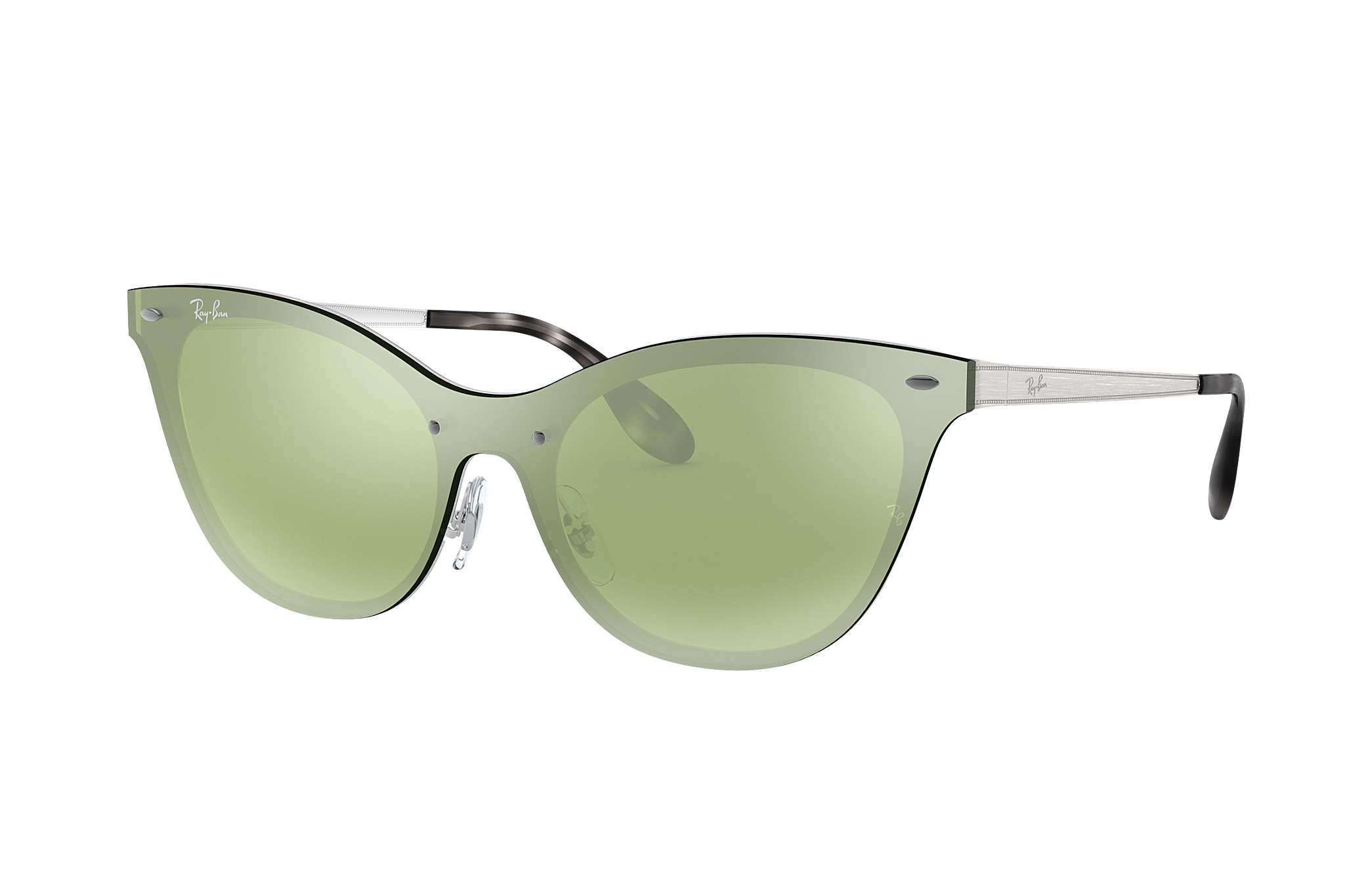 d375544d85d20 Ray-Ban Blaze Cat Eye RB3580N Silver - Steel - Dark Green Silver ...