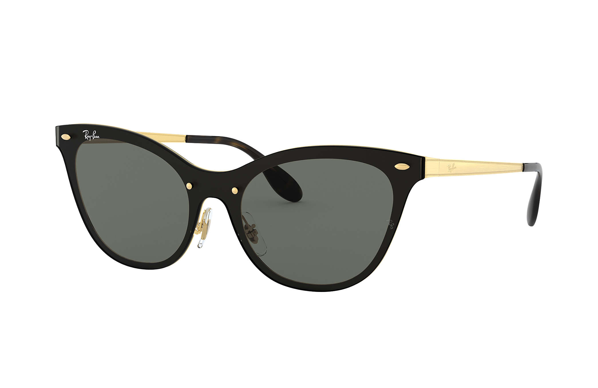 Ray-Ban BLAZE CAT EYE Gold with Green Classic lens