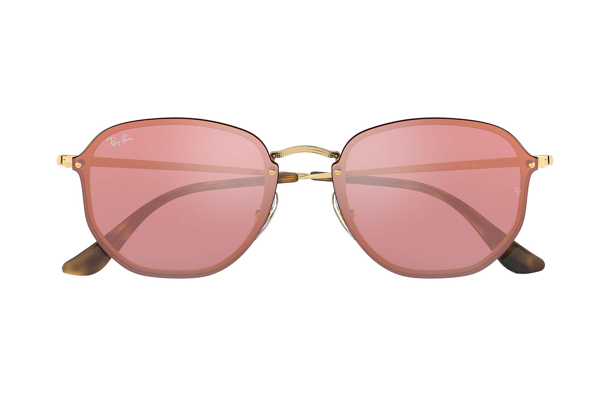 Ray-Ban Blaze Hexagonal RB3579N Gold - Metal - Pink Lenses ... b6ccb4fa15