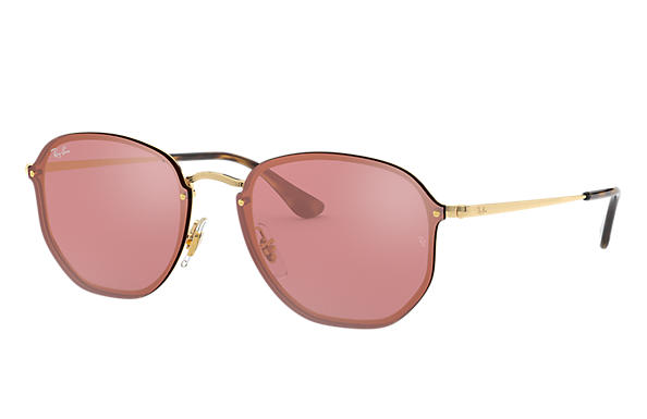Ray-Ban Blaze Hexagonal RB3579N Gold - Metal - Pink Lenses ... fb45d2404e54a