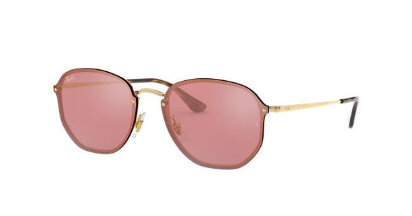c42afb57256 Ray-Ban Blaze Hexagonal RB3579N Gold - Metal - Pink Lenses - 0RB3579N001  E458
