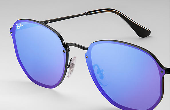 Ray-Ban 0RB3579N-BLAZE HEXAGONAL 黑色 SUN