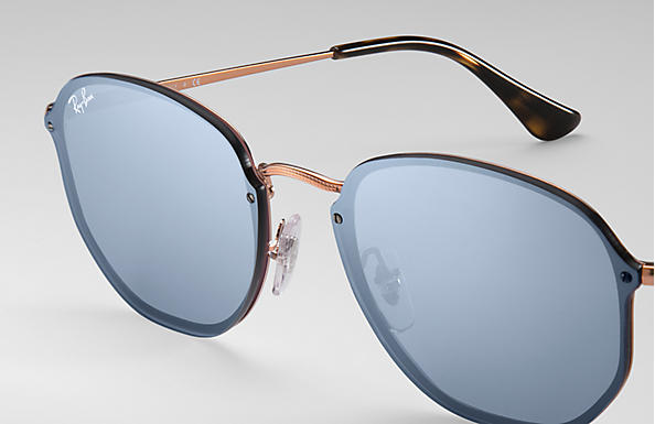 Ray-Ban 0RB3579N-BLAZE HEXAGONAL 青銅-紅棕色 SUN