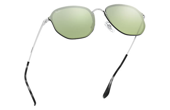 Ray-Ban 0RB3579N-BLAZE HEXAGONAL 銀色 SUN