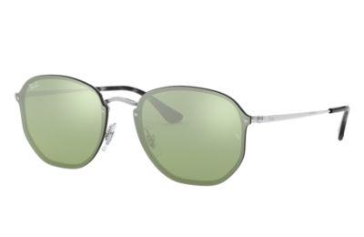 Comprar Ray-Ban Gafas-de-sol BLAZE HEXAGONAL Plata con lente Verde-Plata Espejada