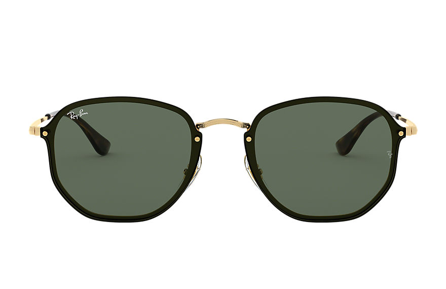 Ray-Ban BLAZE HEXAGONAL Gold with Green Classic lens