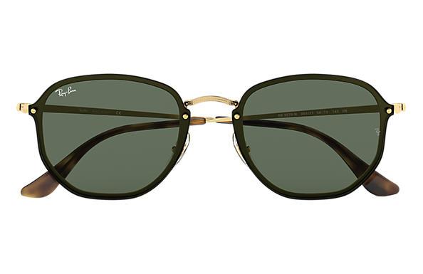Ray-Ban BLAZE HEXAGONAL Gold with Green Classic lens