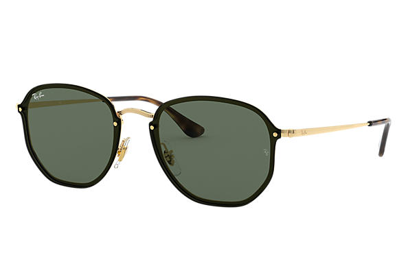 Ray-Ban		 0RB3579N-BLAZE HEXAGONAL Goud SUN