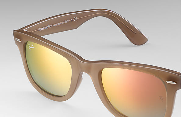 f74f98f0fbe8 Ray-Ban Wayfarer Ease RB4340 Light Brown - Injected - Copper Lenses ...