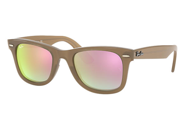 428464b7da9c LENSES: Copper Gradient Flash. Ray-Ban 0RB4340-WAYFARER EASE Light Brown  SUN ...