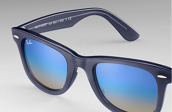 1489a1b307 Ray-Ban Wayfarer Ease RB4340 Blue - Injected - Blue Lenses ...