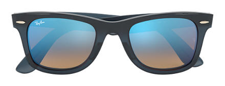 Ray-Ban WAYFARER EASE Blue with Blue Gradient Flash lens