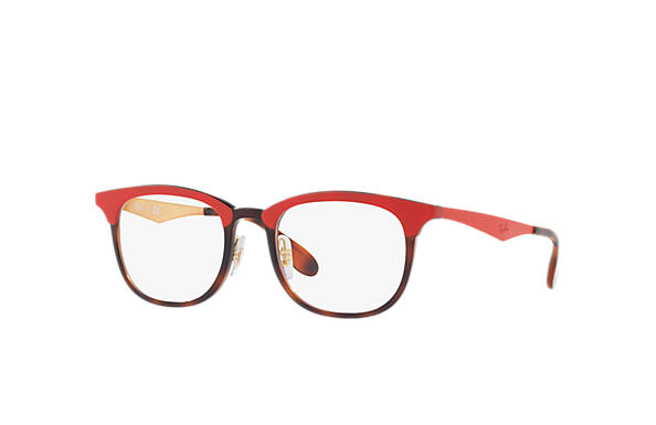 Ray-Ban 0RX7112-RB7112 Red; Red,Gold OPTICAL