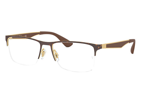 Ray-Ban 0RX6335-RB6335 Havana,Gold; Braun OPTICAL