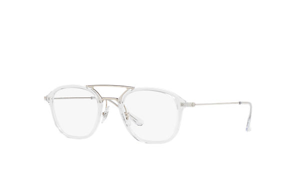 Ray-Ban 0RX7098-RB7098 Transparent; Silver OPTICAL