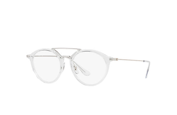 Ray-Ban 0RX7097-RB7097 Transparent; Silber OPTICAL