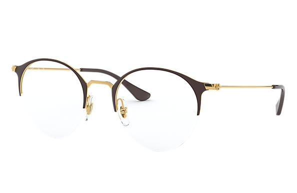 Ray-Ban 0RX3578V-RB3578V Brown,Gold; Gold OPTICAL