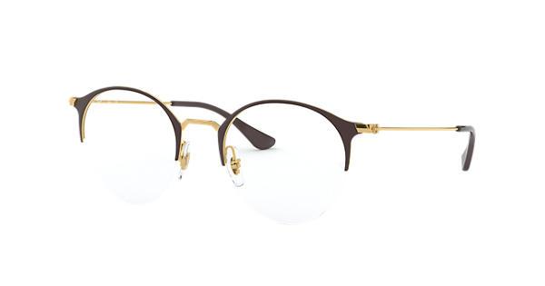 8ed1518777f0 Ray-Ban prescription glasses RB3578V Brown - Metal - 0RX3578V290550 ...