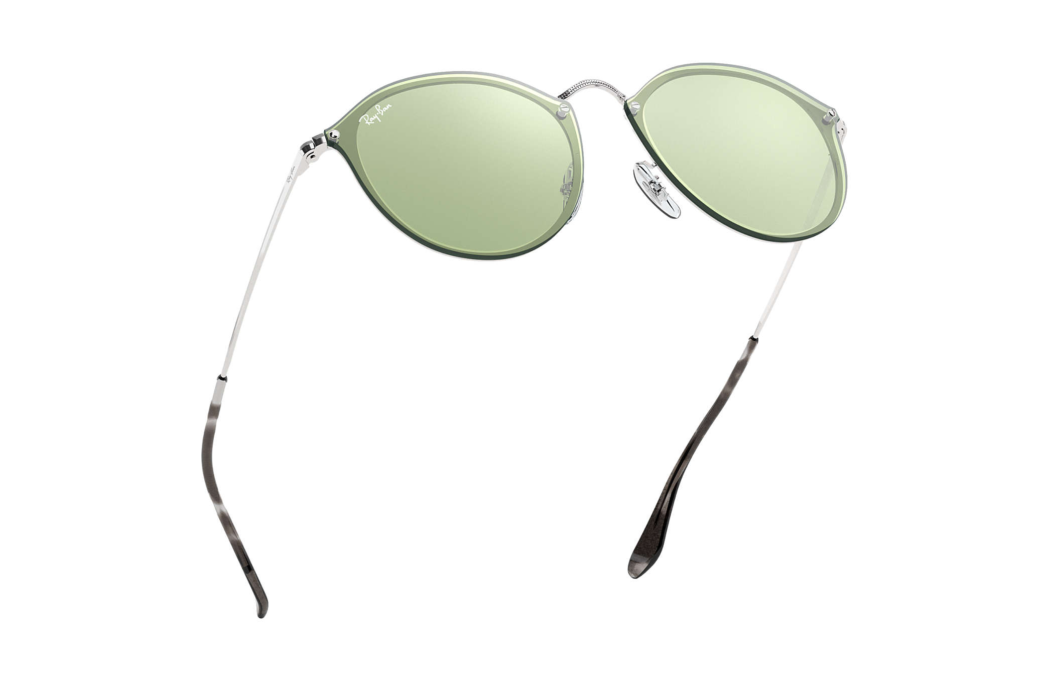 be403c0561 Ray-Ban Blaze Round RB3574N Silver - Metal - Dark Green Silver ...