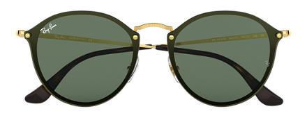 Ray-Ban BLAZE ROUND Ouro com Verde Clássica lentes 13d630a4905c8