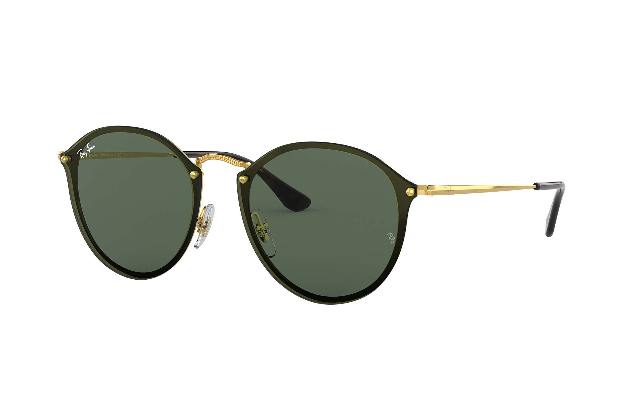 Ray-Ban Blaze Shooter RB3581N Ouro - Metal - Lentes Verde ... 8381f4f1cd