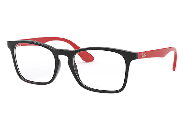 Ray-Ban 0RY1553-RB1553 Noir; Rouge OPTICAL