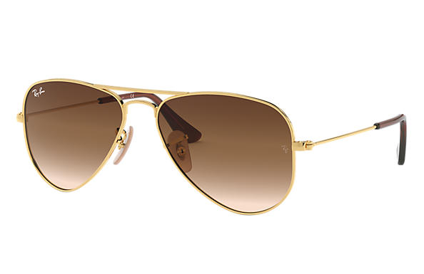 Ray-Ban 0RJ9506S-AVIATOR JUNIOR Gold SUN