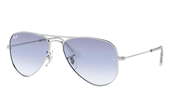 Ray-Ban 0RJ9506S-AVIATOR JUNIOR Silver SUN