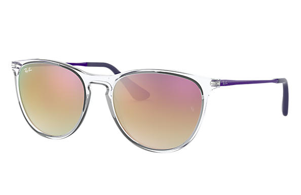 Ray-Ban 0RJ9060S-IZZY Transparent; Violet SUN