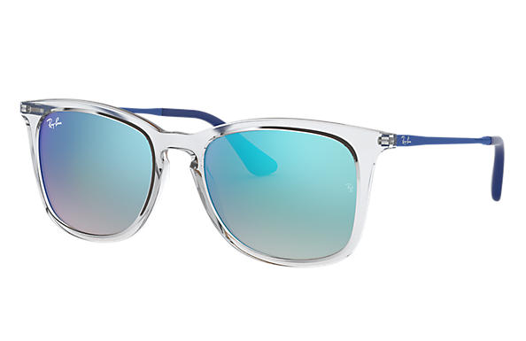 Ray-Ban		 0RJ9063S-RJ9063S Transparent; Blue SUN