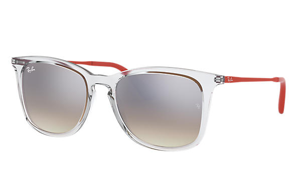 Ray-Ban 0RJ9063S-RJ9063S Transparent; Rouge SUN