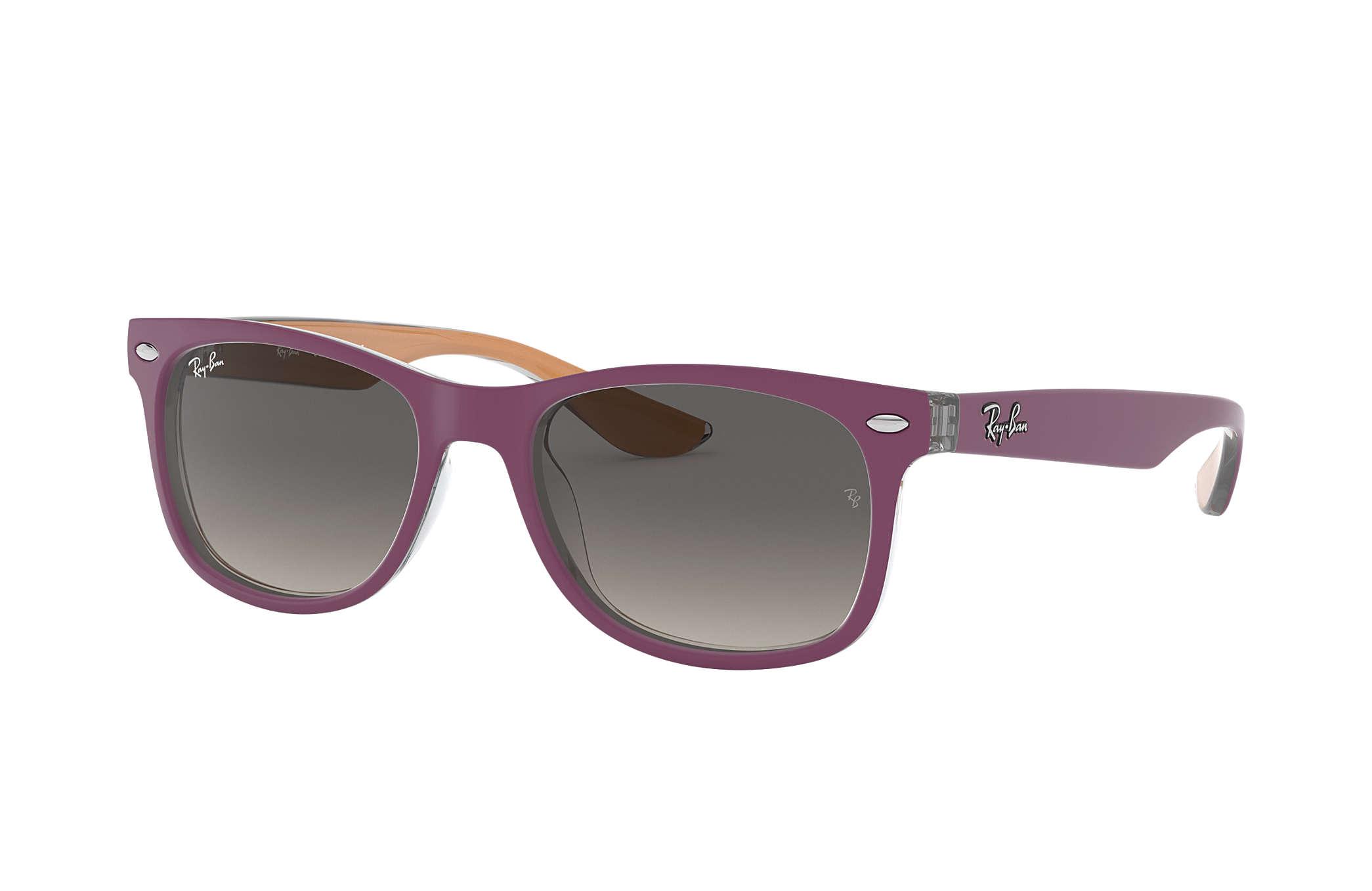 New Wayfarer Junior Ray-Ban RB9052S Violet - Injected - Verres Gris ... 9a6375df63b5