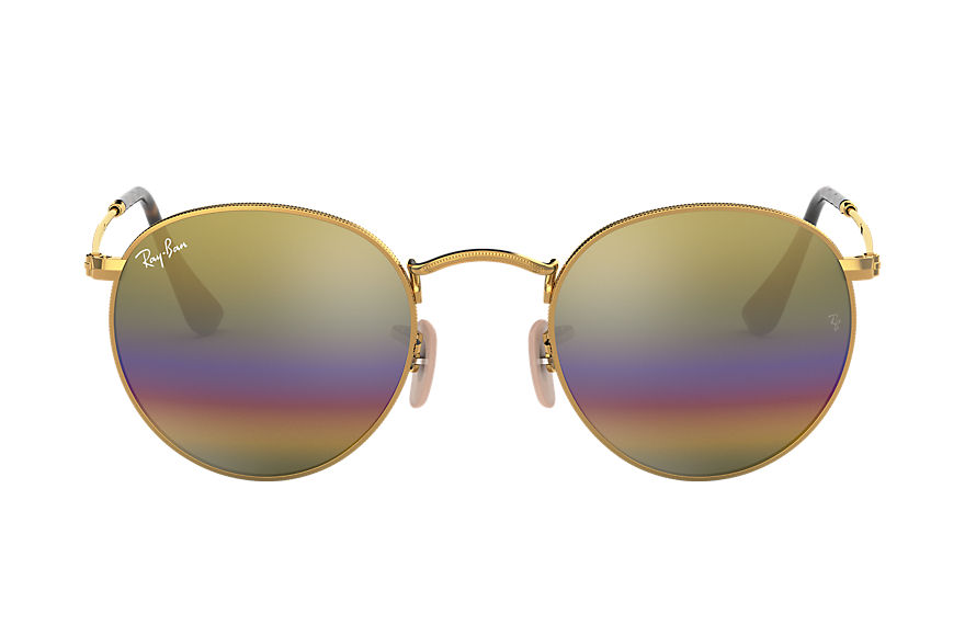 Ray-Ban  sonnenbrillen RB3447 UNISEX 003 round mineral flash lenses gold 8053672787078