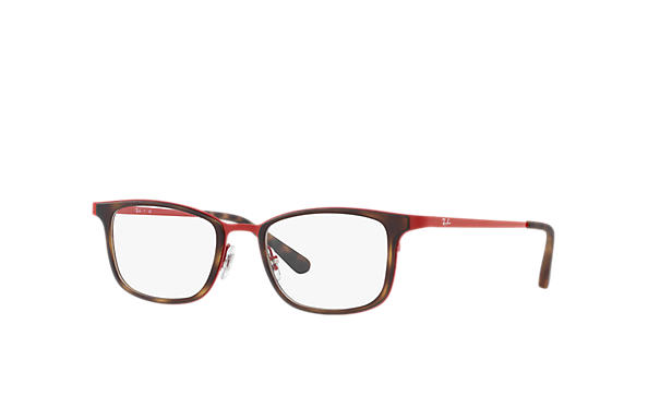 Ray-Ban 0RX6373M-RB6373M Tortoise; Red OPTICAL