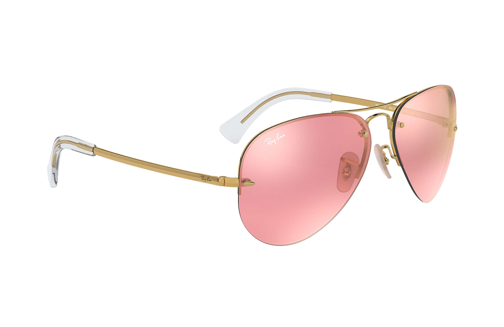 74a668260f3 Ray-Ban RB3449 Gold - Metal - Pink Lenses - 0RB3449001 E459