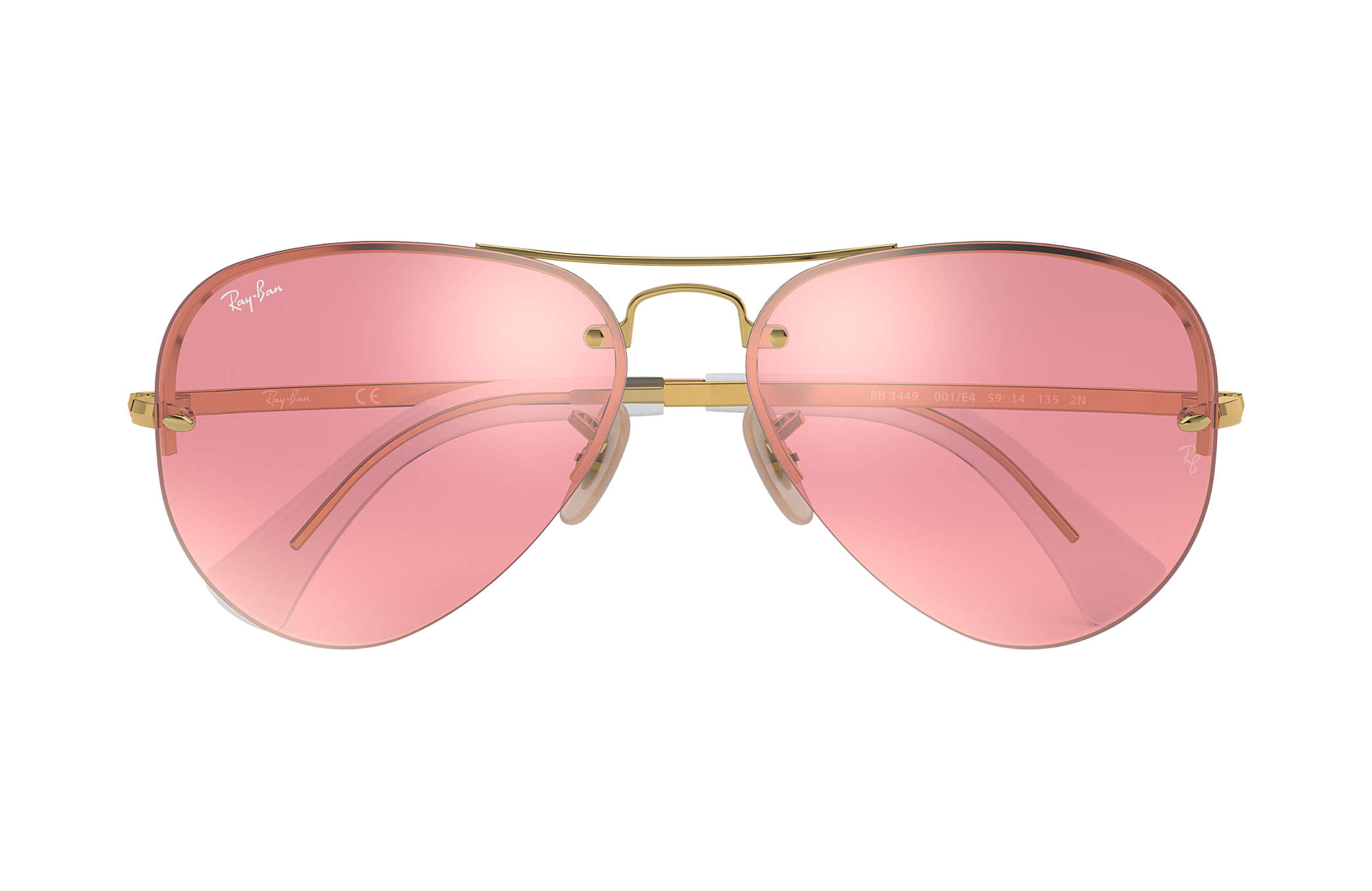 3fca04723b Ray-Ban RB3449 Gold - Metal - Pink Lenses - 0RB3449001 E459