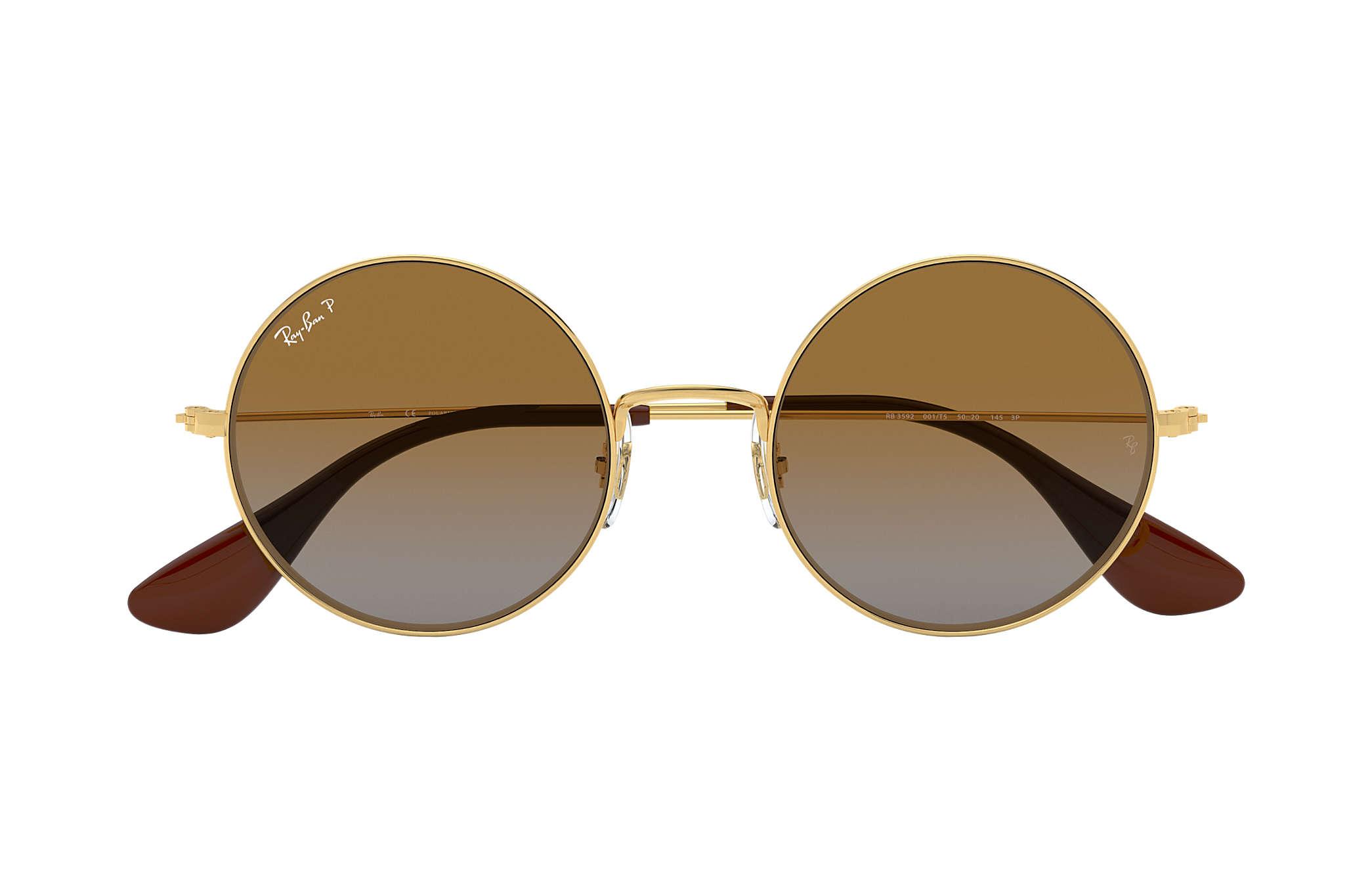 c18510bf48 Ray-Ban Ja-jo RB3592 Gold - Metal - Brown Polarized Lenses ...